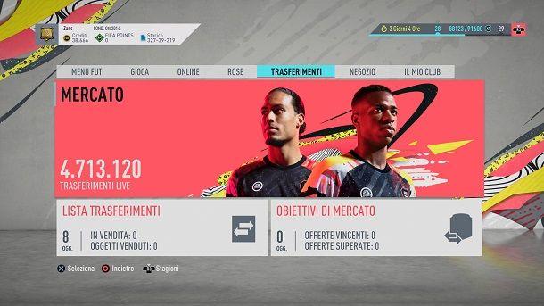 Mercato FIFA Ultimate Team