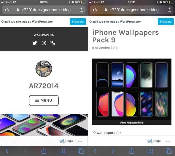 Altri servizi per immagini HD iPhone
