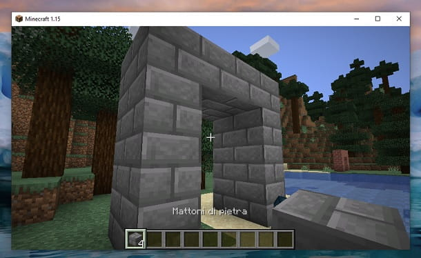 Struttura mattoni di pietra Minecraft