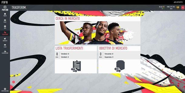 Trasferimenti FIFA Web App