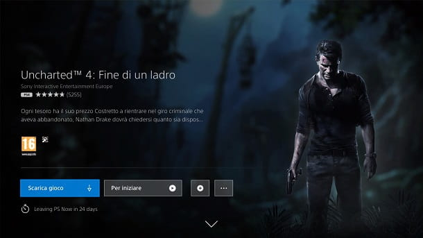 Uncharted 4 Fine di un ladro PlayStation Now