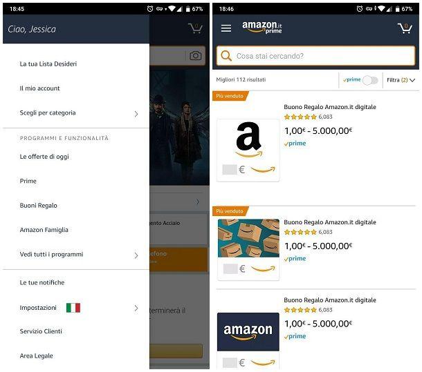 Come creare un buono Amazon