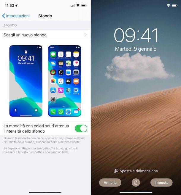 Impostare sfondo su iPhone X