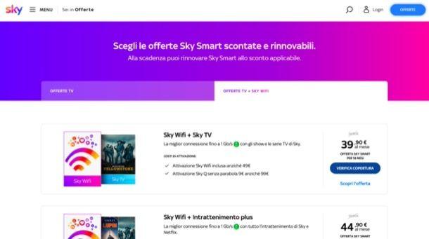 Offerte Sky TV e Sky WiFi