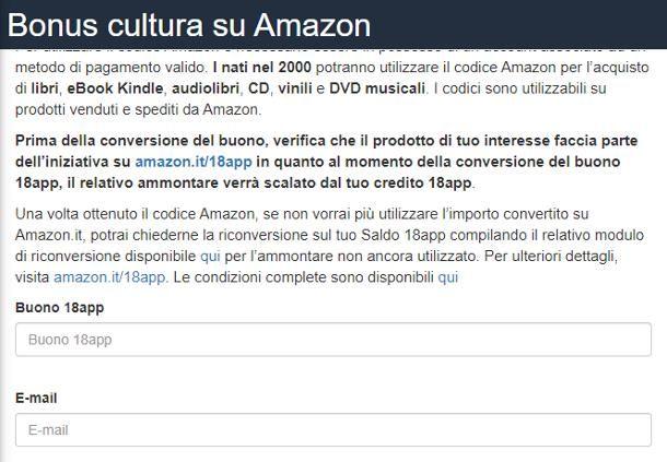 Come fare un buono Amazon