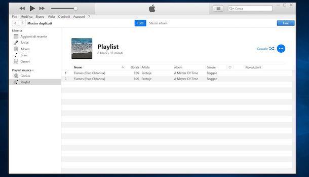 Come eliminare duplicati playlist iTunes