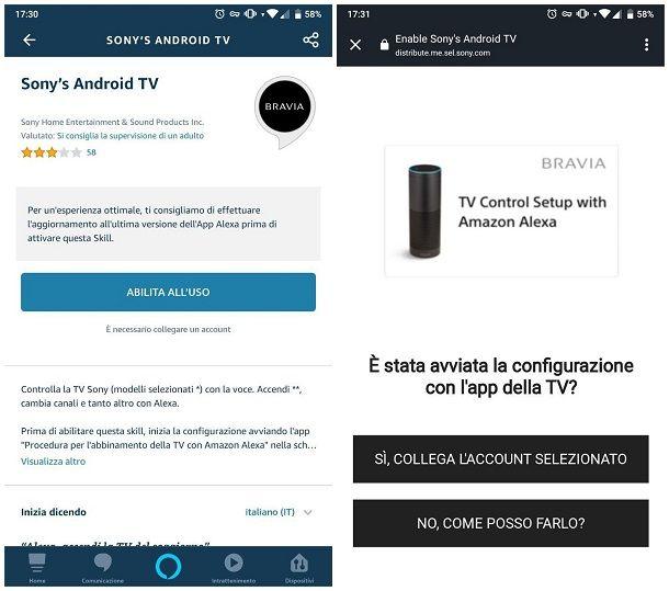 Come collegare Alexa alla TV Sony