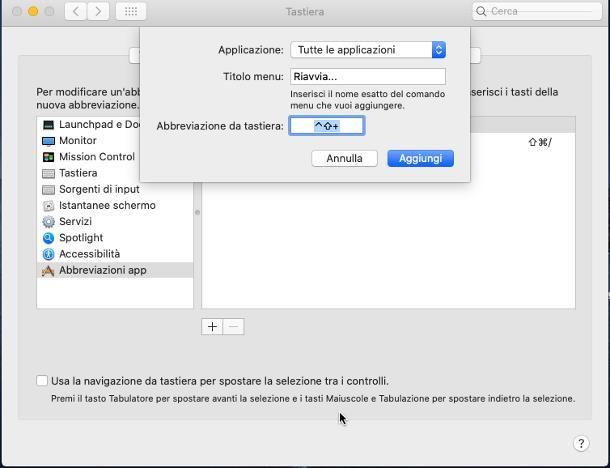 Come riavviare il Mac dalla tastiera