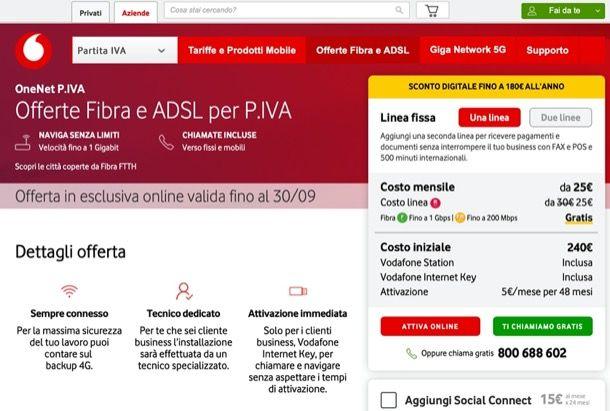 Vodafone OneNet P.IVA