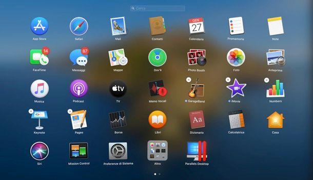 Disinstallazione programmi Mac