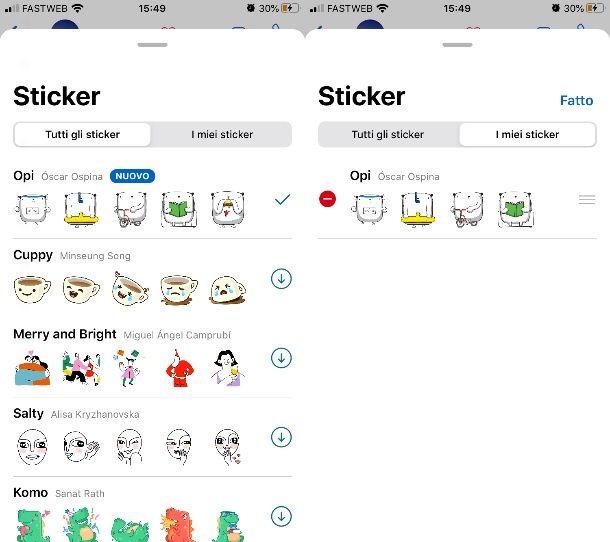 Aggiungere sticker su WhatsApp iPhone