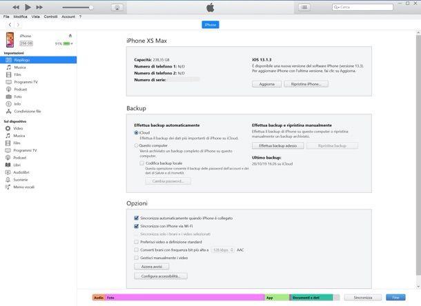 Come sincronizzare iPhone con iTunes via Wi-Fi