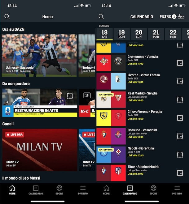 Vedere le partite di Serie A su DAZN