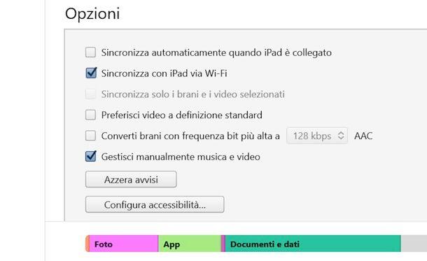 Come sincronizzare iPad in Wi-Fi