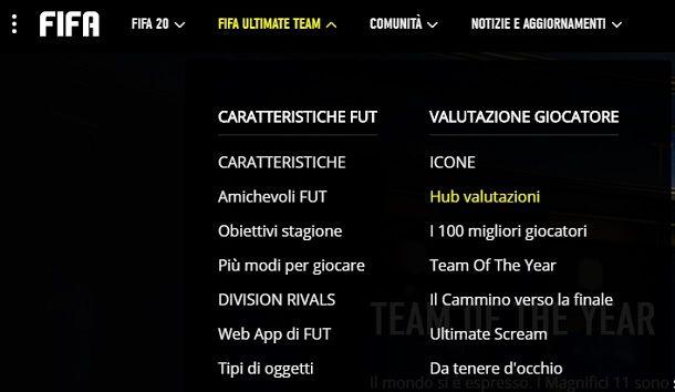 Hub valutazioni FIFA 20