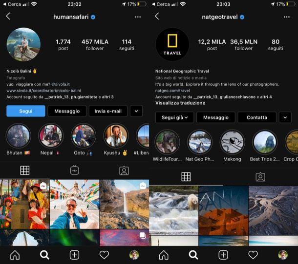 Migliori profili Instagram viaggi