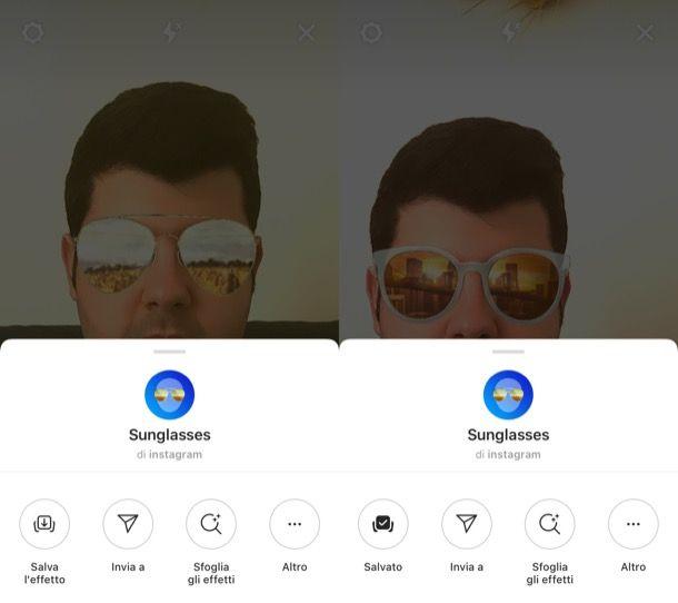 Salvare effetti Instagram iPhone