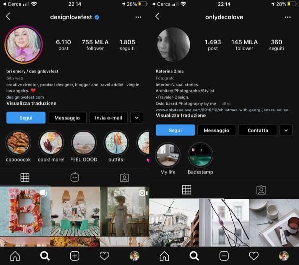 Migliori profili Instagram arredamento