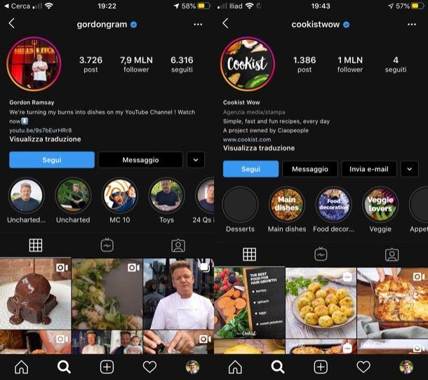 Migliori profili Instagram food
