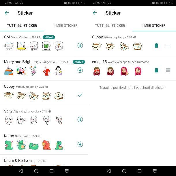 Inserire stickers su WhatsApp Android