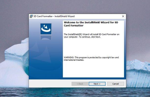 Installazione SD Card Formatter