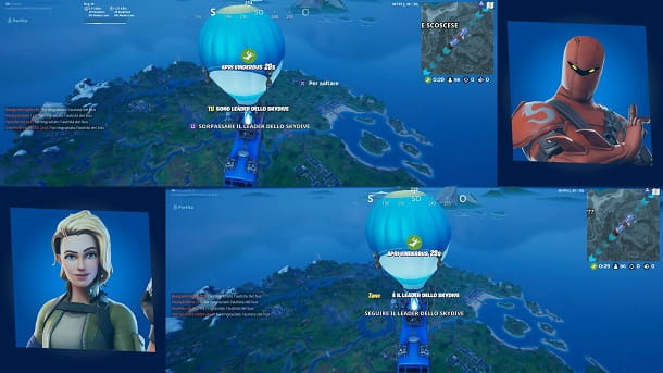 Leader dello Skydive Fortnite