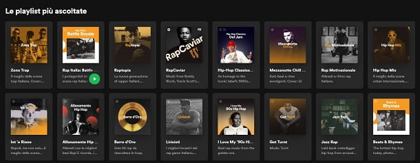Playlist rap Spotify
