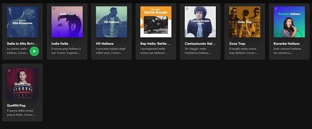 Playlist spotify italia