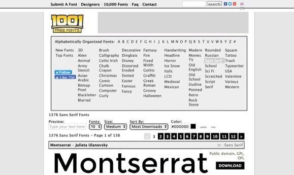 1001 Font Free