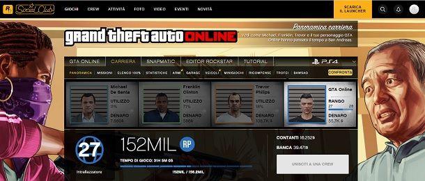Statistiche GTA Online