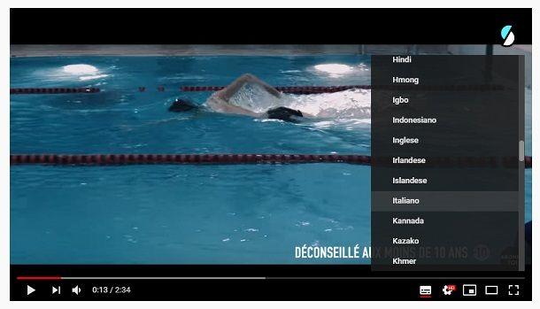 Traduzione automatica sottotitoli di YouTube