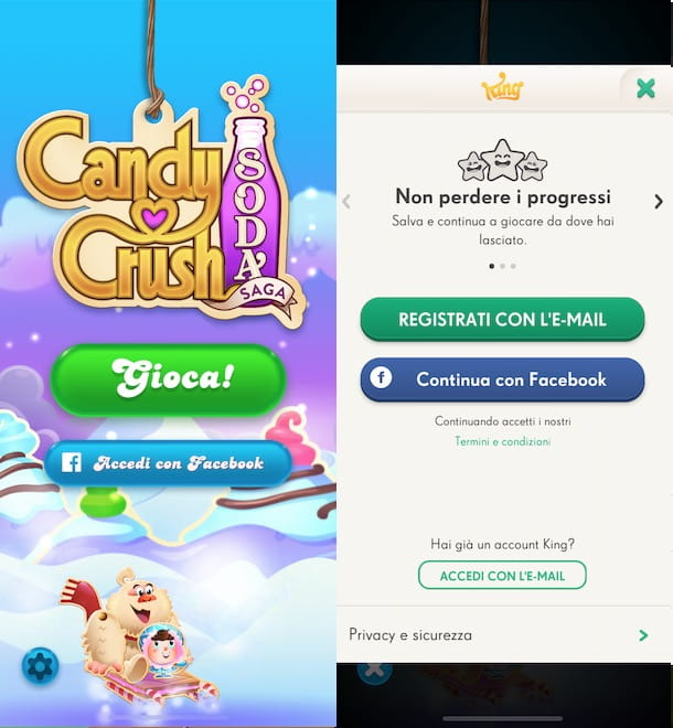 Come cambiare account Candy Crush Soda Saga