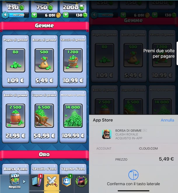 Come acquistare gemme su Clash Royale