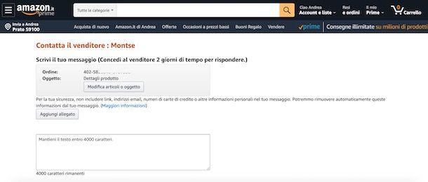 Come fare un reclamo a un venditore Amazon