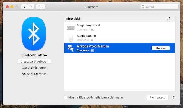 AirPods Pro connessione iMac