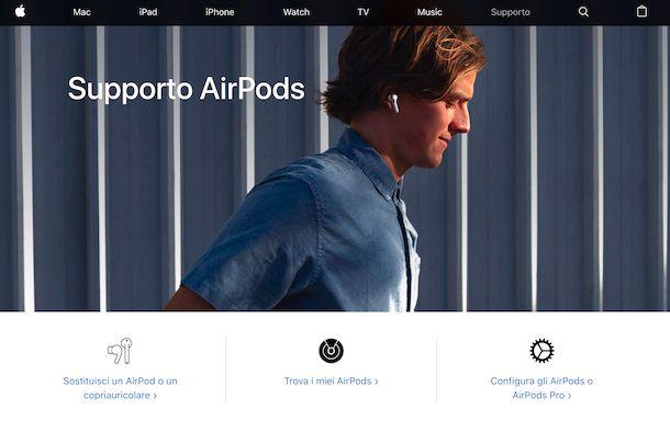 AirPods supporto