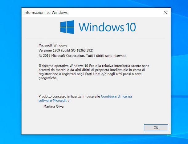 Versione Windows da Esegui