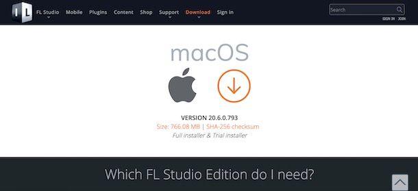 Come scaricare FL Studio gratis su Mac
