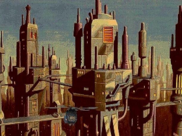 Fantascienza 2D vecchio stile in Beneath a Steel Sky
