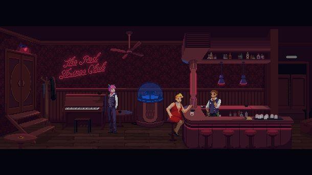 Il bar più cyberpunk di sempre è in The Red Strings Club