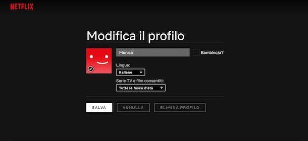 Come eliminare un profilo Netflix