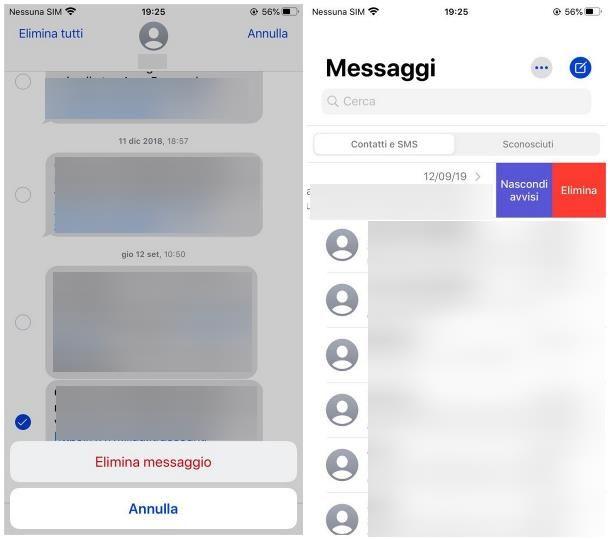 Come cancellare SMS ricevuti