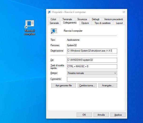 Come riavviare il PC dalla tastiera