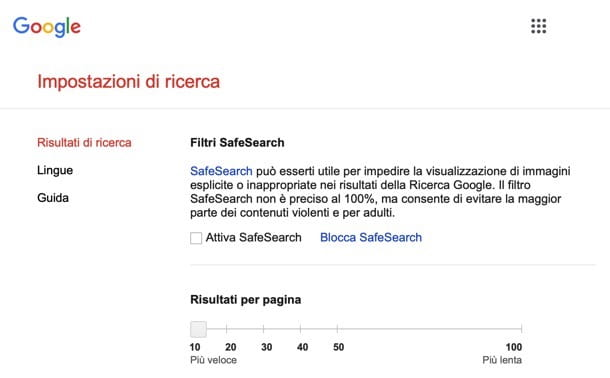 Google SafeSearch