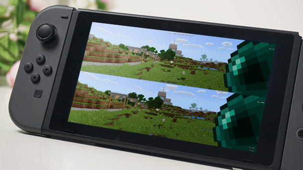 giocare in due su minecraft nintendo switch