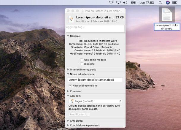Come rinominare file su Mac