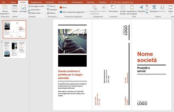 Brochure da modello su PC