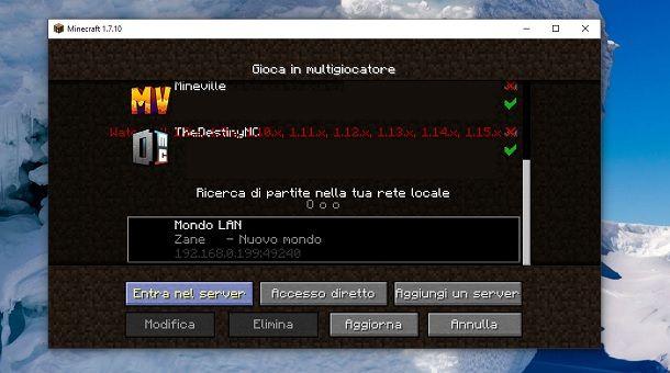 Come giocare in LAN su Minecraft senza Hamachi