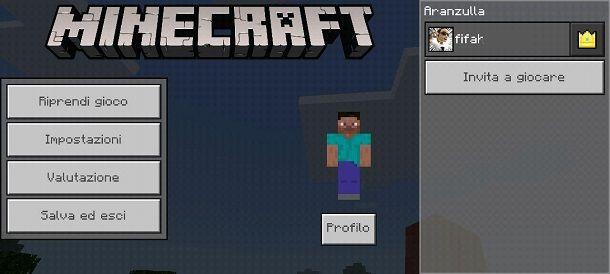 Come giocare in due su Minecraft PE