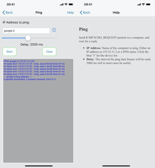 Come pingare un sito da iPhone